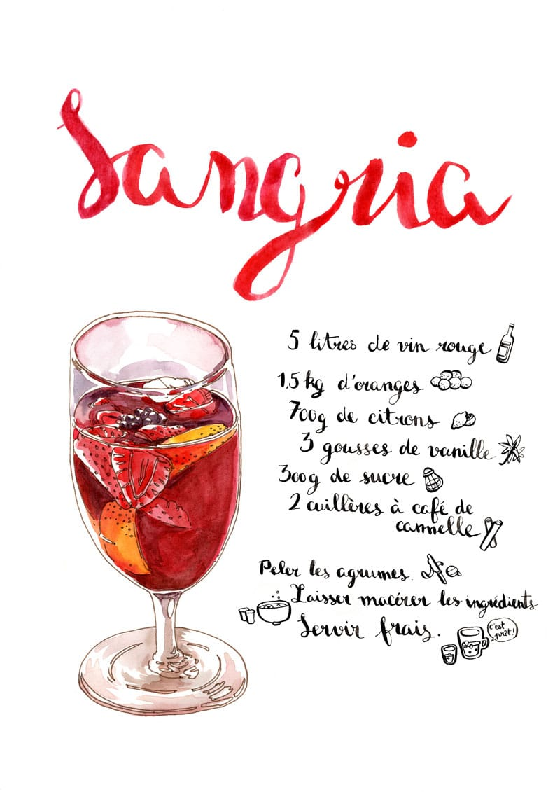 Affiche cocktail Sangria