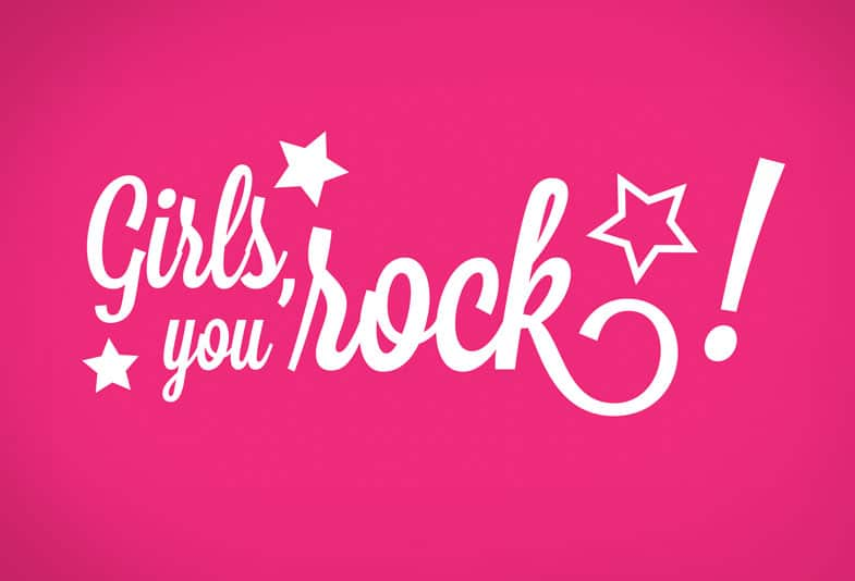 Logo Girls you rock!