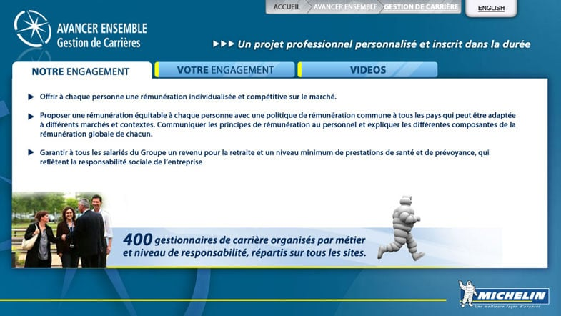 Michelin: interface tactile