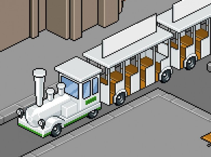 Pixel Art Clermont-Ferrand: le petit train